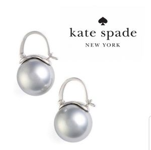 ♠️Kate Spade♠️ Gray Shine On Bauble Earrings